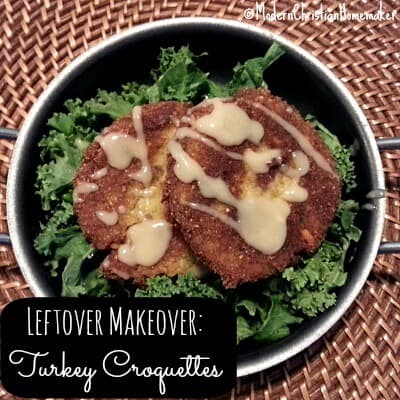 Thanksgiving Leftover Makeover – Turkey Croquettes