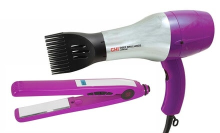 CHI Far-Infrared Hair Dryer or 1″ Titanium Flat Iron with Digital Display 50% Off
