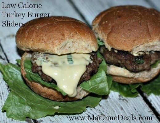 Low Calorie Easy Turkey Burgers Sliders
