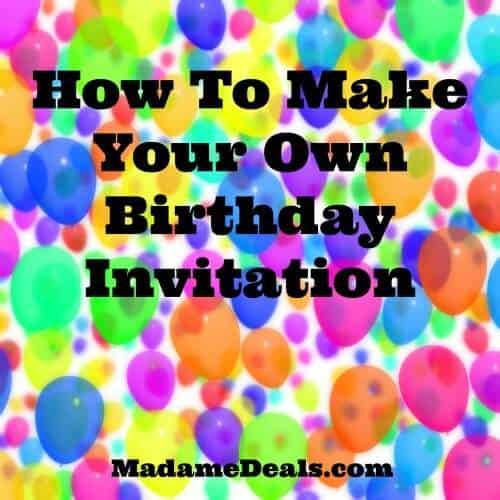 Make your own birthday invitation