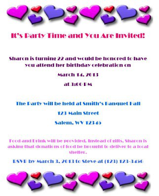 Make Your Own Birthday Invitation 2