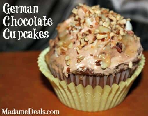 German Chocolate Cupcakes Recipe