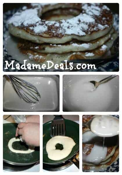 Powdered Doughnut Pancakes steps