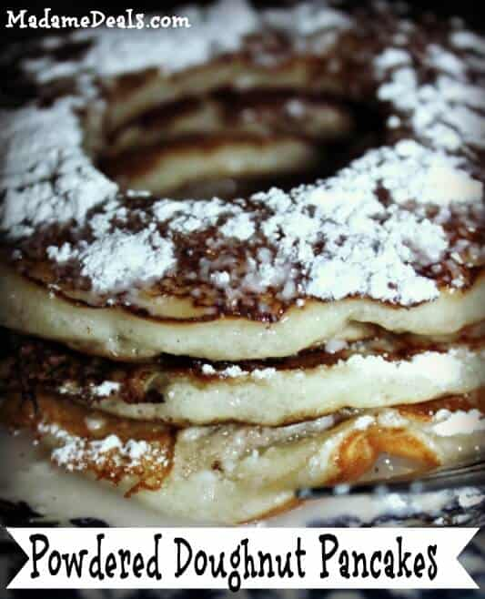 Powdered Doughnut Pancakes