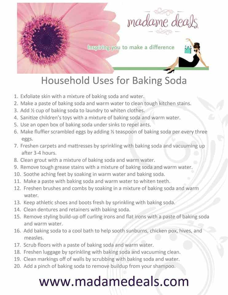 101 Uses for Baking Soda - Real Advice Gal