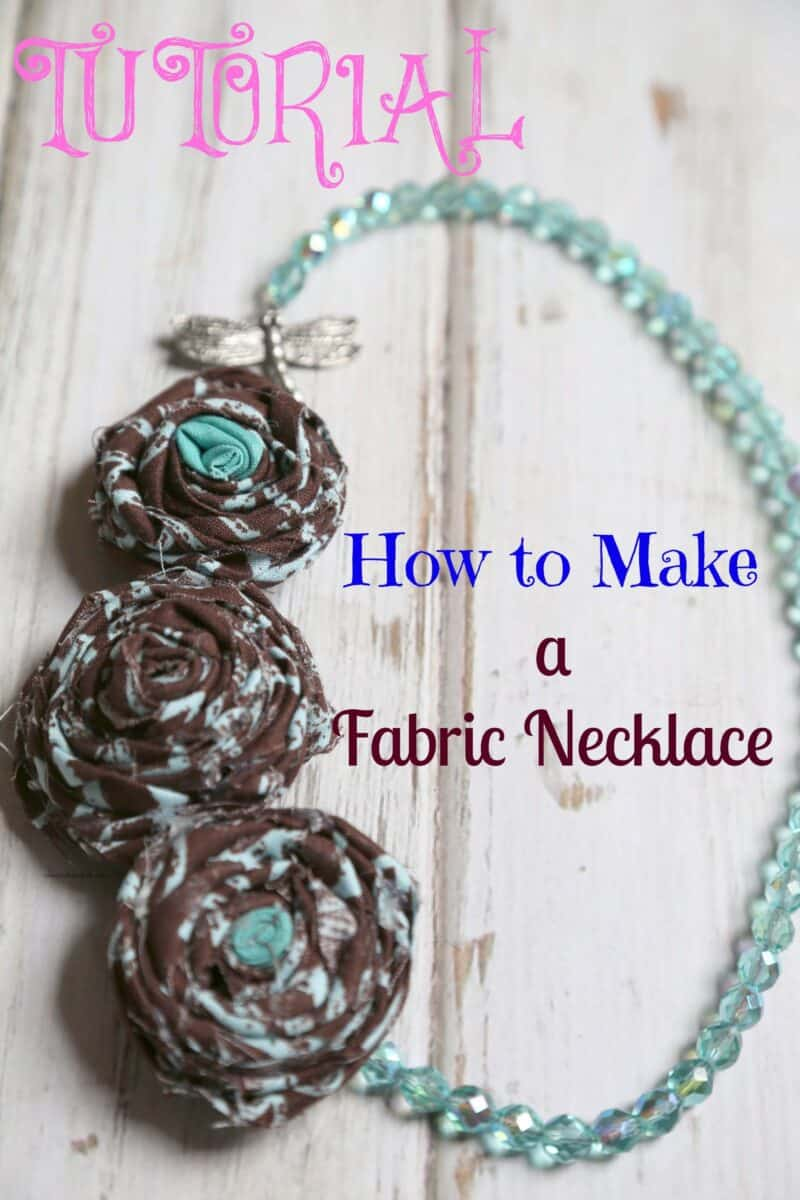 Save On Crafts: Fabric Flower Necklace
