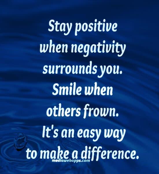 Letting Go of Negativity