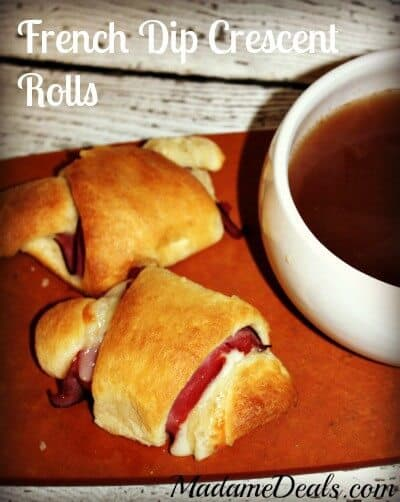 French Dip Crescent Rolls