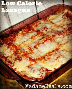 low calorie lasagna