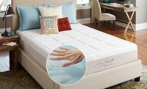 Nature's Sleep Gel Memory Foam Mattress with Pillows