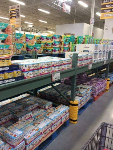 baby aisle Bj whole sale club