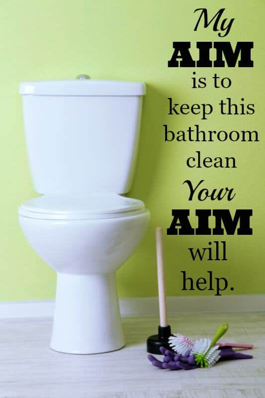 bathroom clean up tips