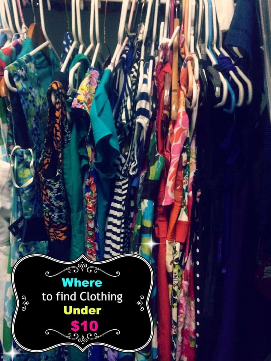 Clothing under $10