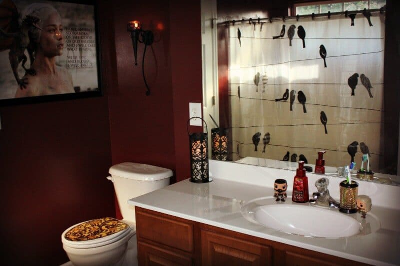 Game Of Thrones Bathroom Redo Featuring Behr Paint