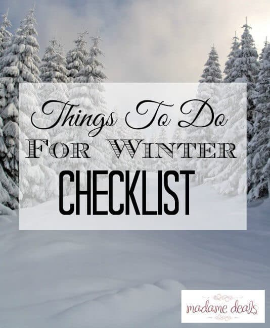 Things To Do For Winter Checklist Printable