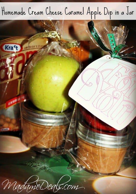 Cream Cheese Caramel Apple Dip In a Jar