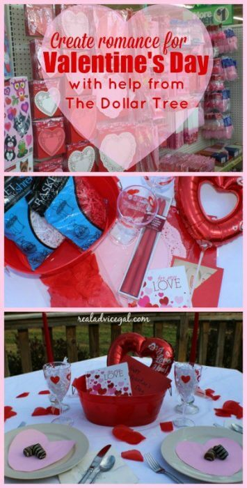 Celebrate Valentine's Day with a romantic evening at home. Shop the Dollar Tree to add some special touches to your night with your sweetheart.