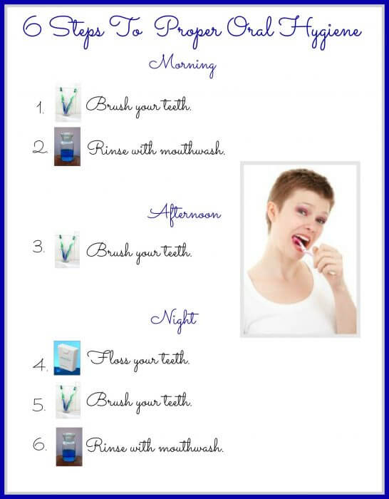 6 steps for a healthy oral hygiene routine