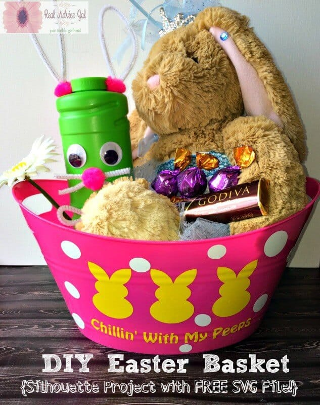 Easy silhouette project diy easter basket diy easter bunny baskets negle Choice Image