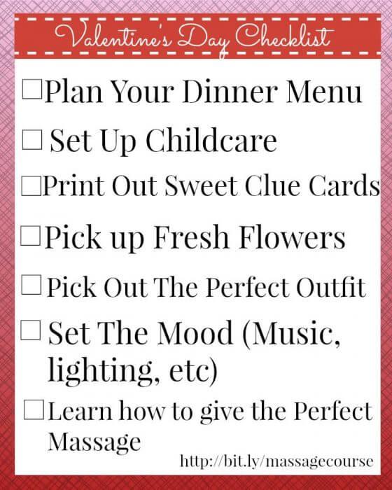 Valentines Day Checklist