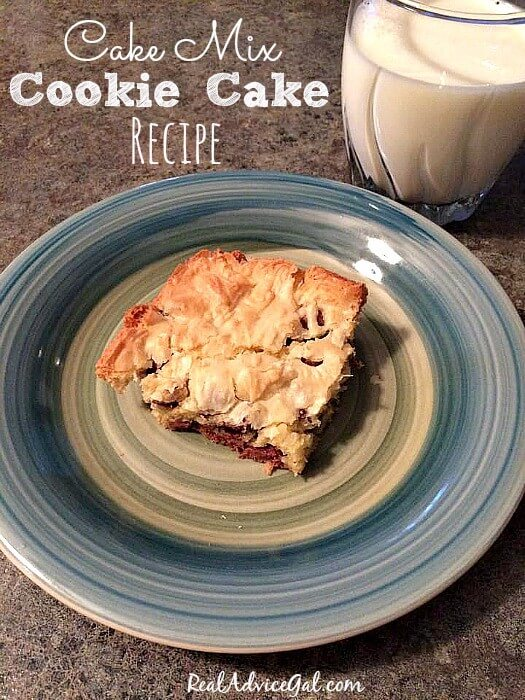 Delicious Cake Mix Cookie Cake recipe.