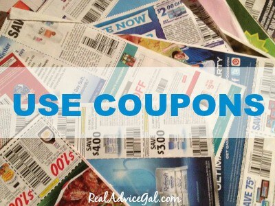 Use coupons to save money
