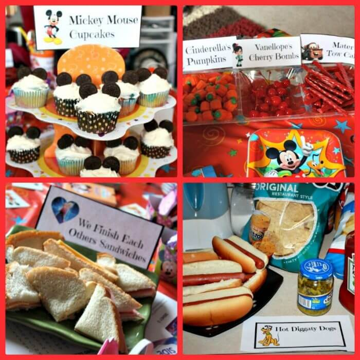 Great Disney Food Ideas with FREE Printables!