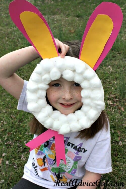 Easy Easter Bunny Paper Plate Craft