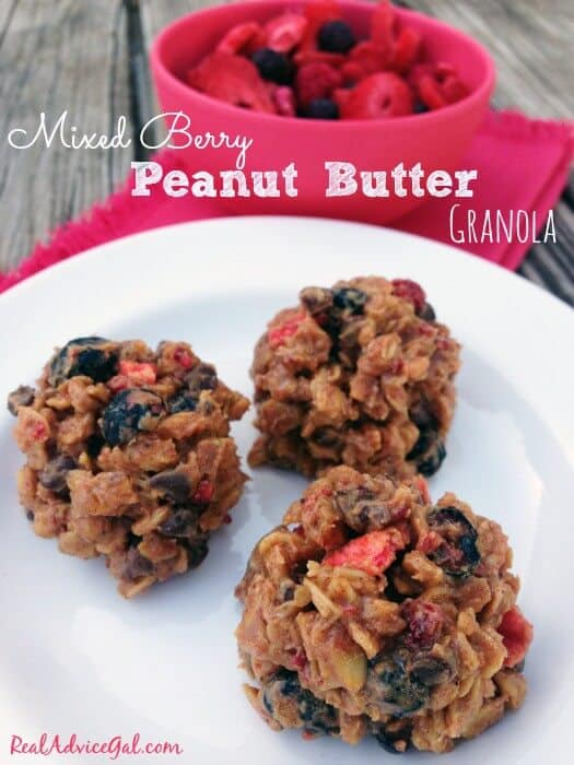 Mixed Berry Peanut Butter Granola Recipe
