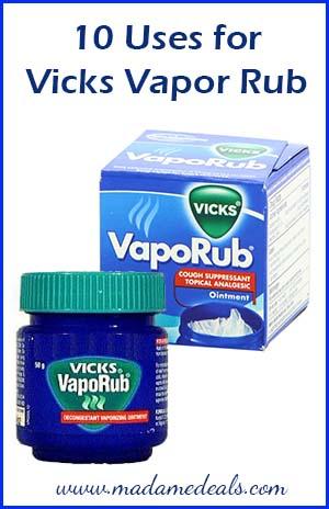 Uses for Vicks Vapor Rub