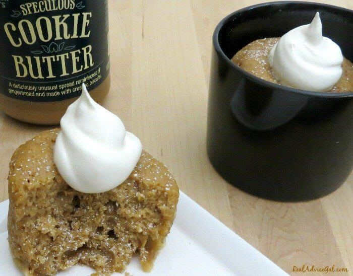 Cookie Butter Microwave Mug Cake Recipe Real Advice Gal