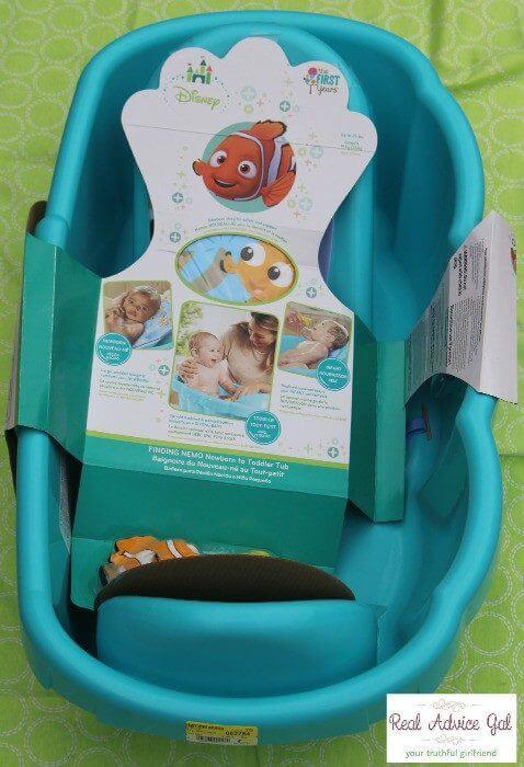 Disney Baby Nemo Bath Tub baby bath time gift basket