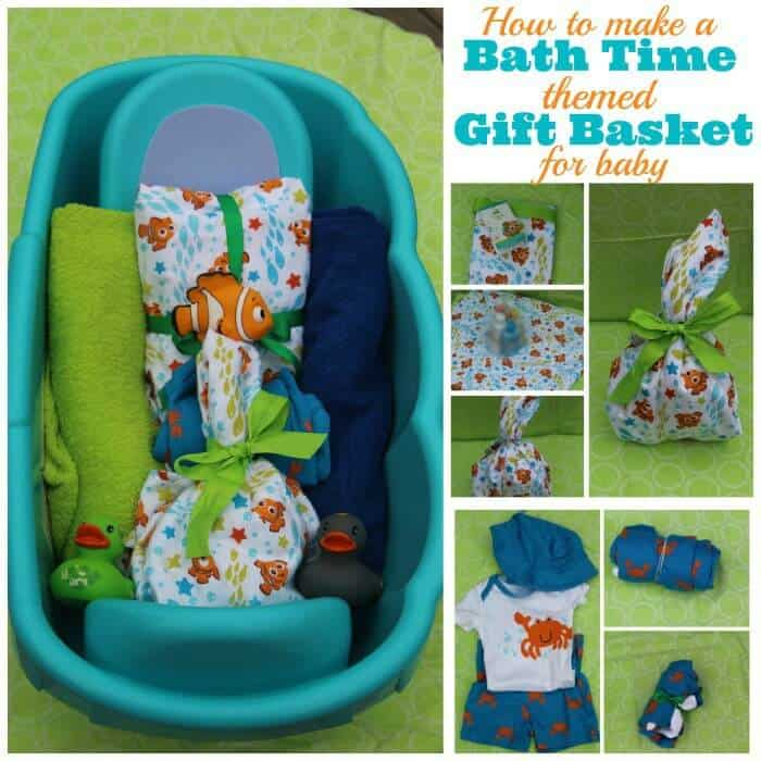 How to make a baby bath time gift basket
