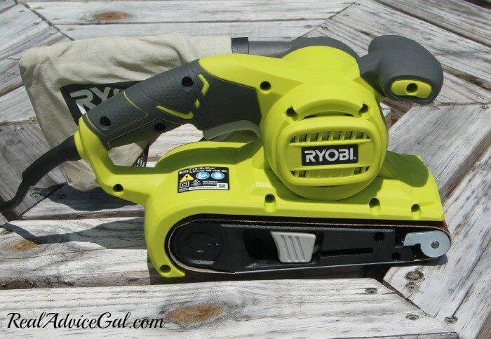 My new power tool a Ryobi Belt Sander