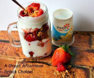 Easy Fruit Parfait Recipe Featuring Yoplait