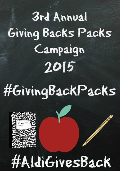 Aldi Giving Back Packs Campaign 2015