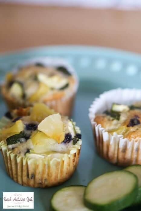 Blueberry Zucchini Healthy Breakfast Muffins Recipe