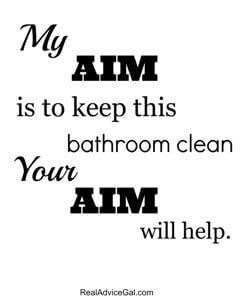 bathroom aim