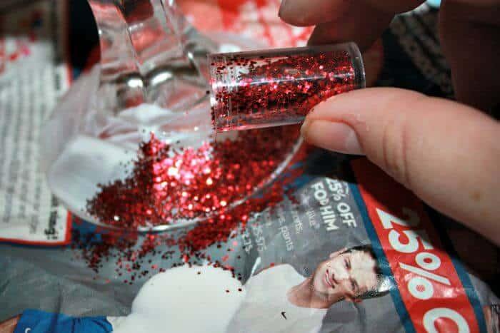 glitter candlestick