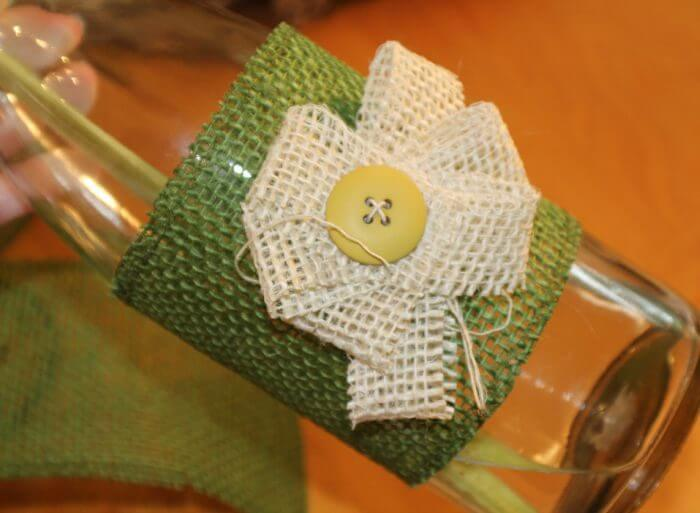 how to decorate a vase with burlap add a burlap flower