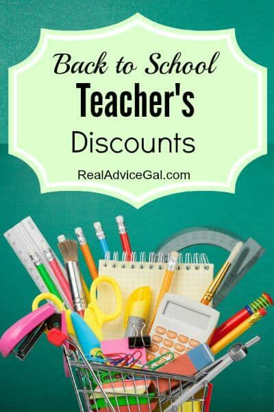 Back to School Teacher's Discounts