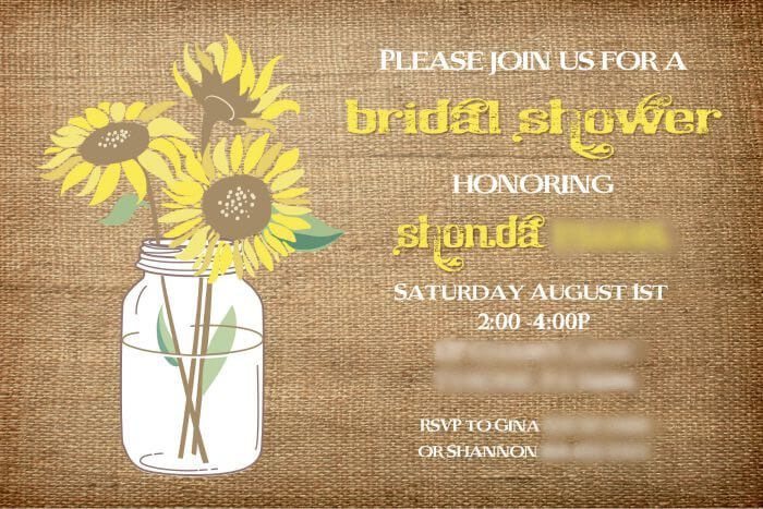Burlap and Sunflowers Bridal Shower