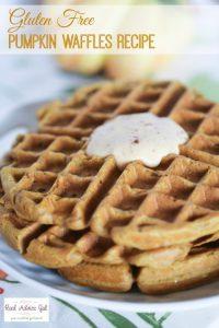 Gluten Free Pumpkin Waffles Recipe with Yoplait® Greek Yogurt