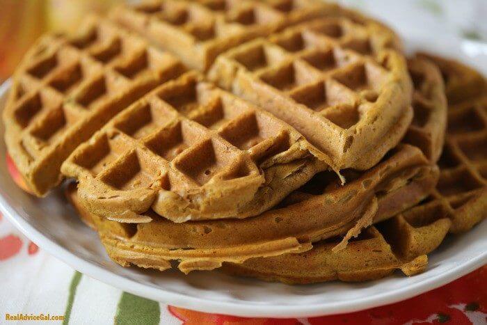Gluten free Pumpkin Waffles 1