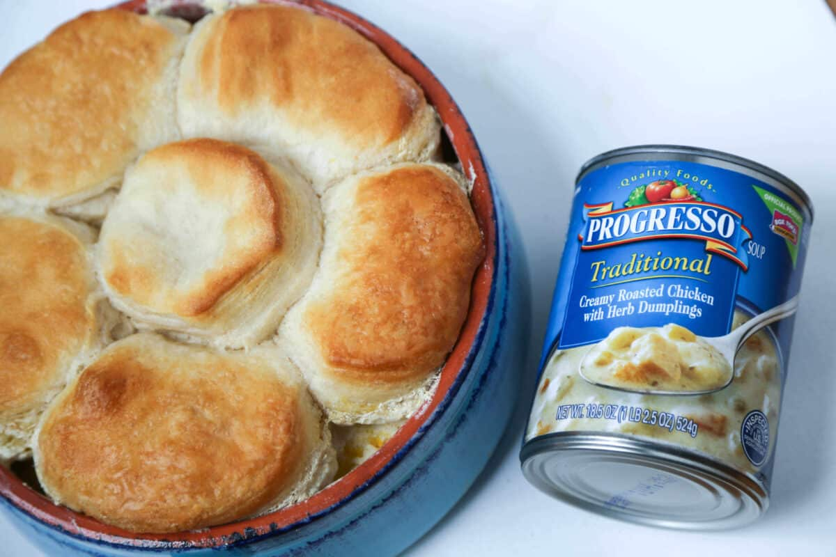 Chicken with Biscuits Recipe Using Progresso Ready-to-Eat Soups