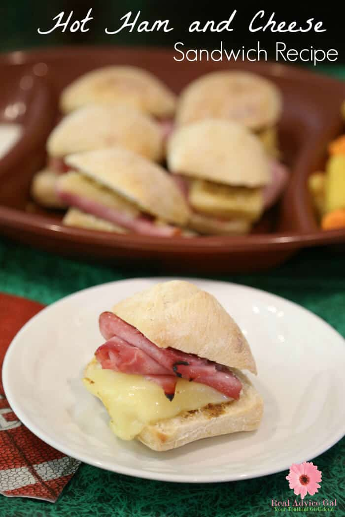 Plan your tailgating party now and shop at Save-A-Lot to get your ingredients for my yummy hot ham and cheese sandwiches recipe and veggie stadium cups.
