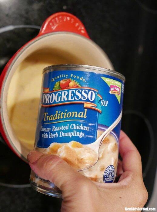 Chicken with Biscuits Recipe Using Progresso Ready-to-Eat Chicken Soup
