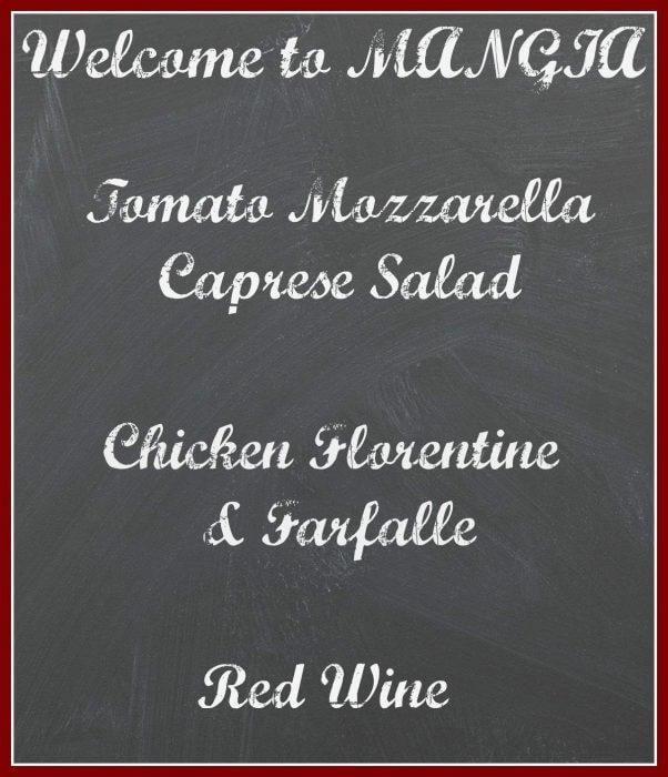 Easy Italian Dinner Menu
