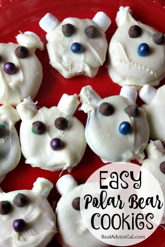 easy polar bear cookies recipe