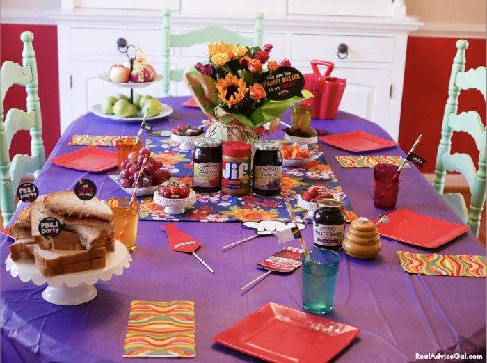 PB&J is a great kids party food idea!